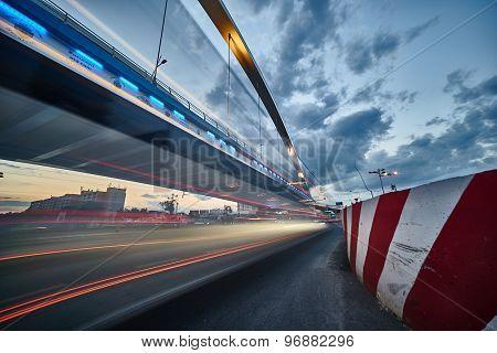 Traffic Motion Near Bridge