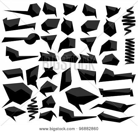 Set of abstract speech balloons