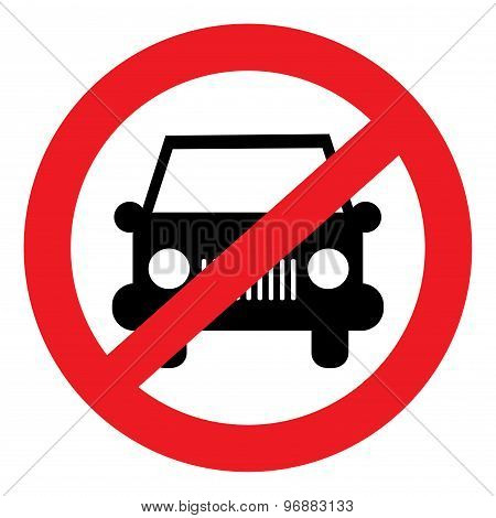 Vector icon prohibiting car