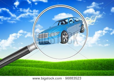Car under loupe