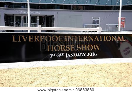 Liverpool International Horse Show Sign.