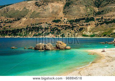 Vouti Beach, Kefalonia Island, Greece