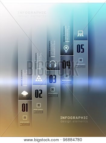 Transparent business Infographics. Shadows options