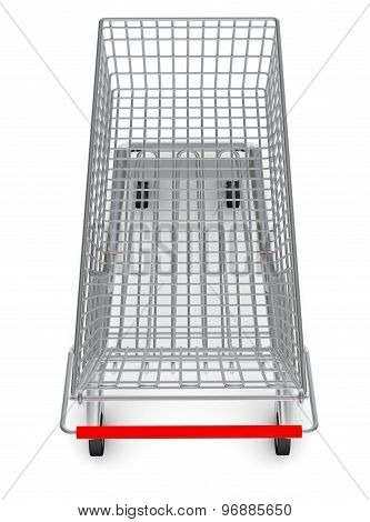 Top view of shopping cart for purchase