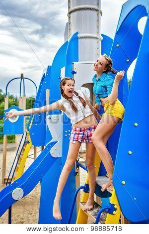 Best Girlfriends At The Playground.