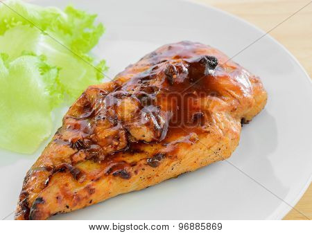 Bbq Chicken Breast With Vegetable