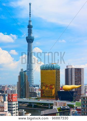 Tokyo downtown with Tokyo Skytree. Japan