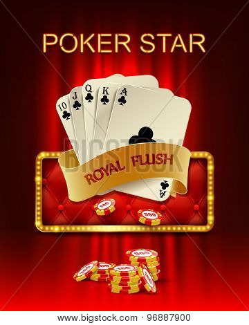 Casino background with poker combination .