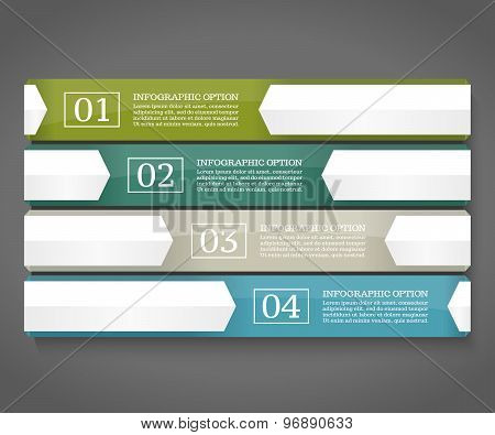 Infographics design template. Business concept with four options.