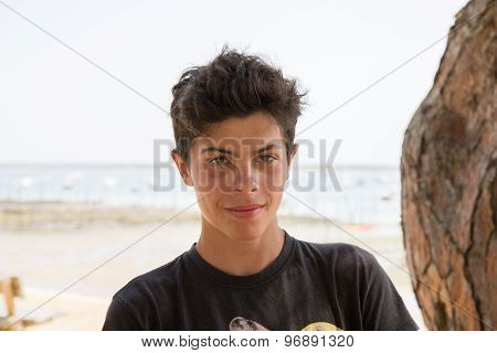 Close Up Of Teen Boy