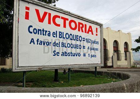 Cuba Blockade Vote Poster