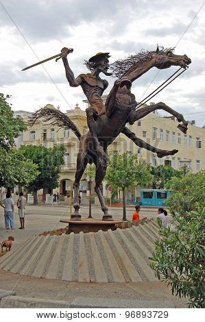 Don Quixote Statue, Havana, Cuba