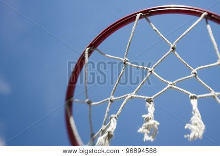 Basketball Hoop net sports background