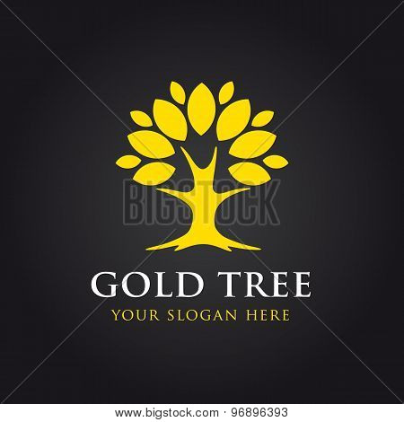 Gold tree logo