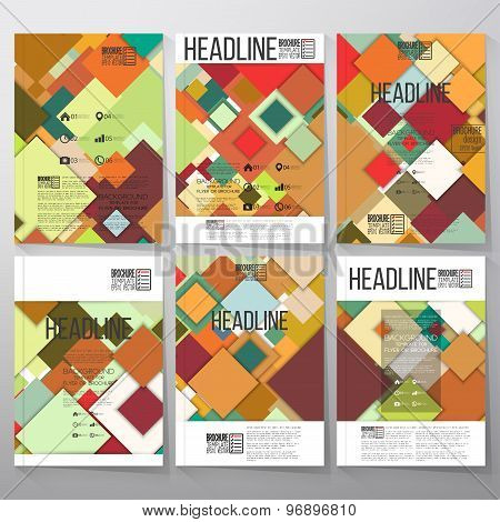 Abstract colored background, square design vector. Business vector templates for brochure, flyer or