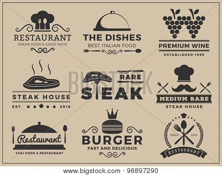 Logo insignia design for Restaurant