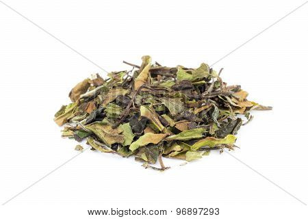 Loose Green Leaves Of White Tea Bai Mu Dan