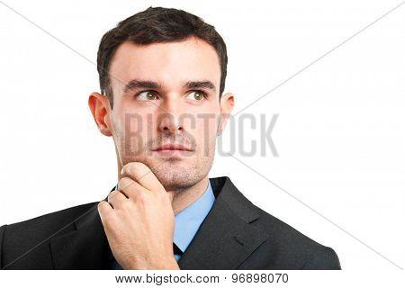 Businessman portrait on white background