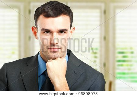 Businessman portrait in the office