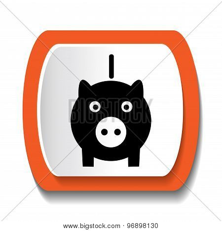 Vector icons with a pig