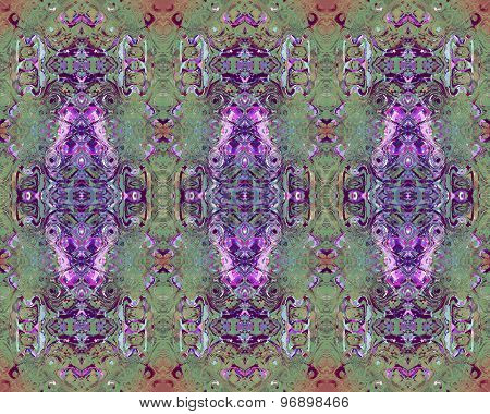 Seamless pattern green purple
