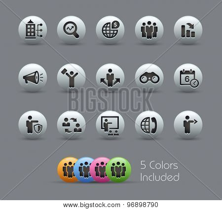 Searching Opportunities and Business Strategies // Pearly Series ----- The Vector file includes 5 color versions for each icon in different layers -----