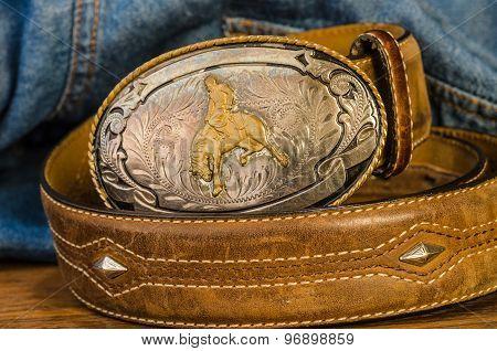Vintage Cowboy Belt Buckle