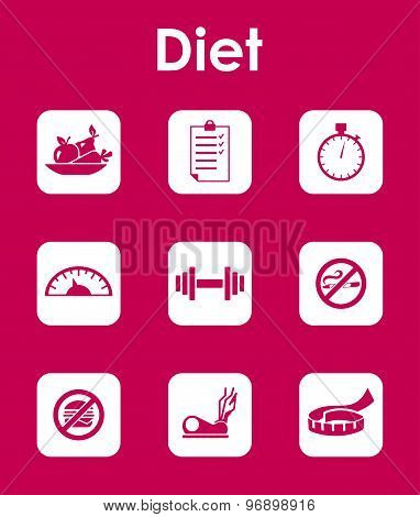 Set of diet simple icons