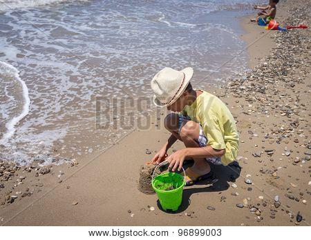 Enjoying childhood at summer vacation
