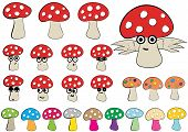 Постер, плакат: Clipart of fly agarics