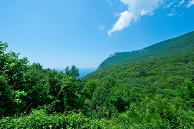 image of crimea  - mountain and blue sky Crimea mountain nature in Crimea - JPG