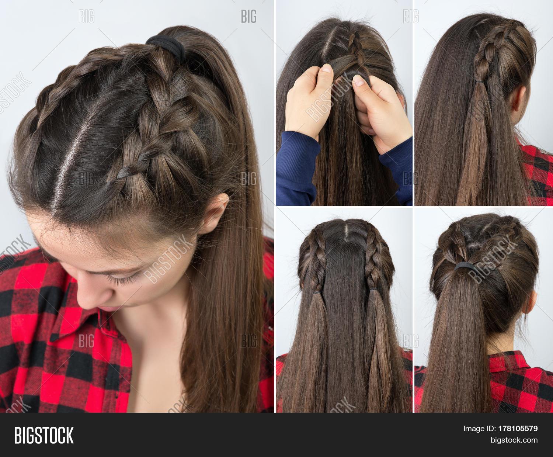 Simple Braided Hairstyle Tutorial Image & Photo | Bigstock