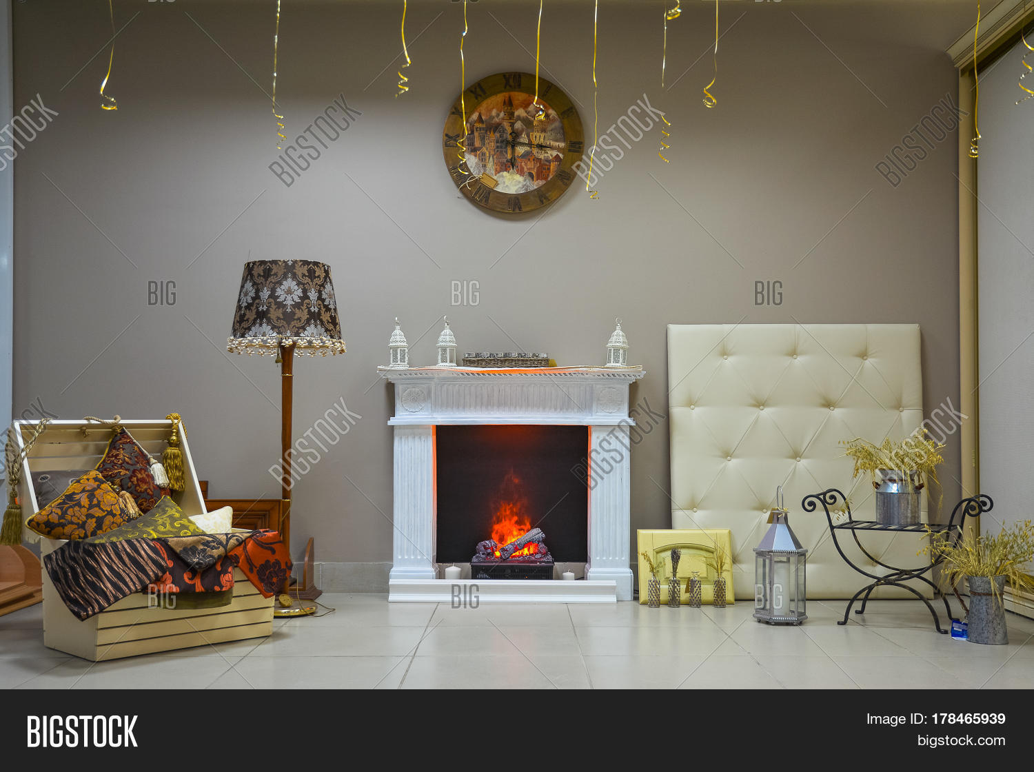 Sample Items For The Living Room Decor Stock Photo