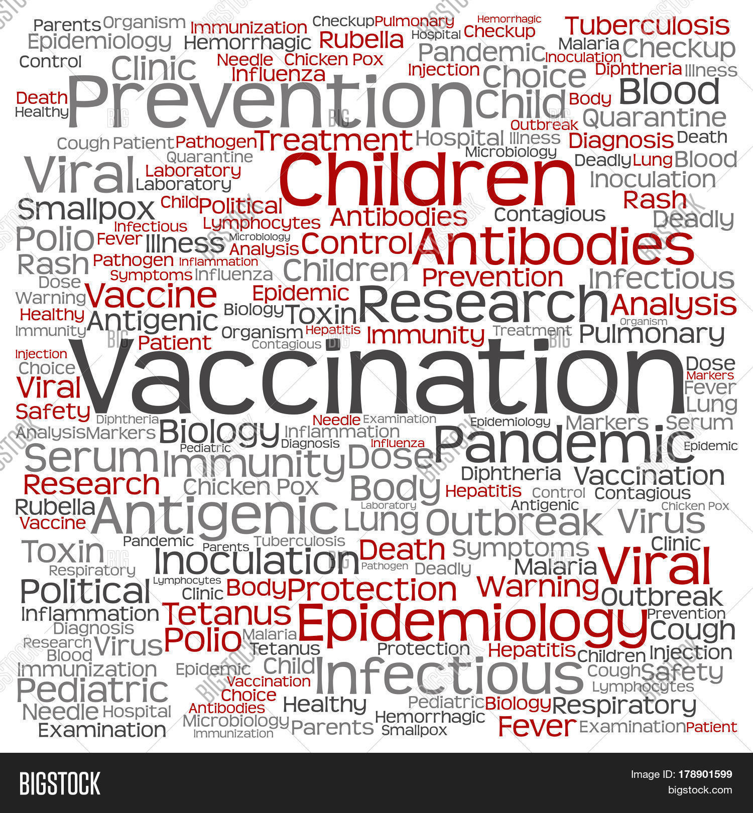 Viral Word: Concept Or Conceptual Children Vaccination Or Viral