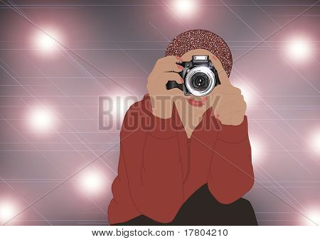 Photographer. Red