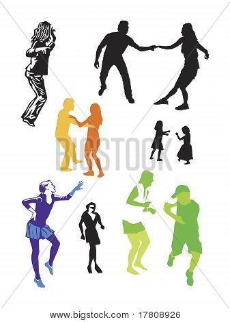 casual dancers