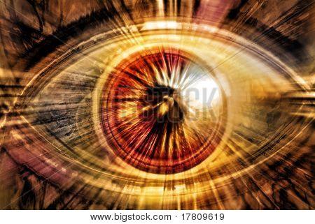 abstract radiating eye