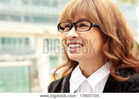 Great Smiling Outdoor Young Executive