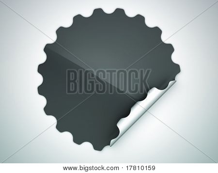 Black Round Hamous Sticker Or Label