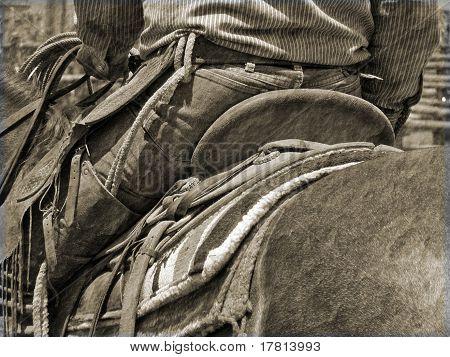 backside of cowboy