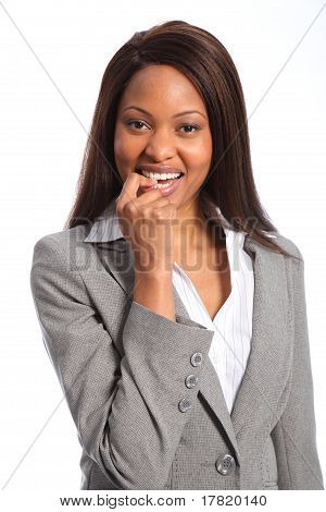 Smiling beautiful business woman