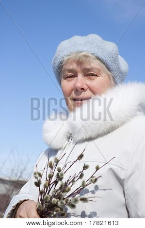 Woman On Stroll In Spring Day