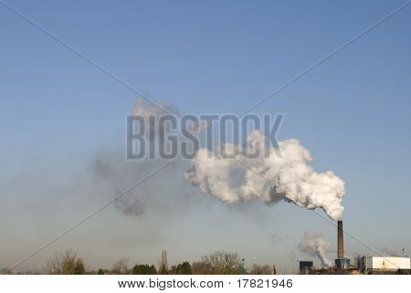 Modern industrial pollution of the atmosphere