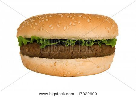 Quarterpounder burger with lettuce