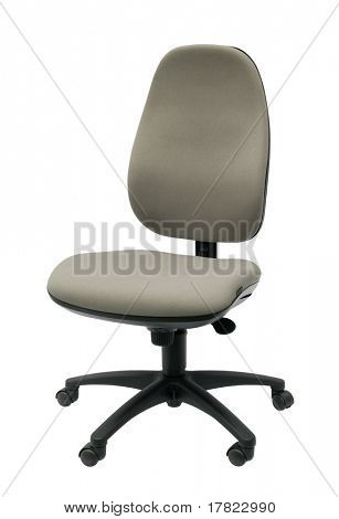 Operators office chair isolated on a white background