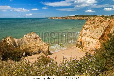 Algarve coastal view near the luxury Praia do Vau resort