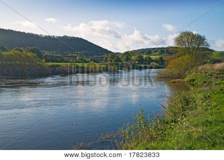 River Severn from the riverbank at Buildwas, Shropshire, UK