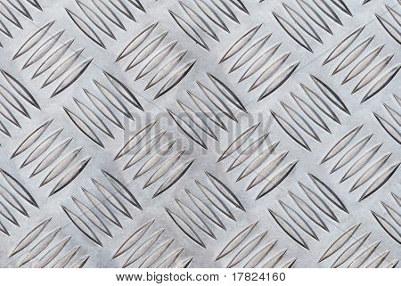 Aluminium checker plate background texture