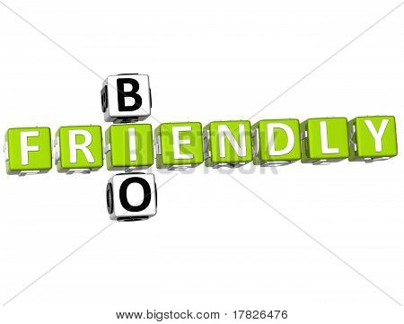 3D Bio Frendly Crossword