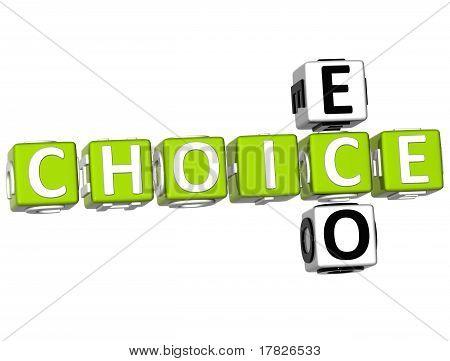 3D Eco Choice Crossword